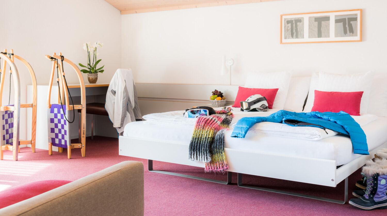 Lenk, Simmental, Hotel, Restaurant, Kreuz, Zimmer, Innenarchitektur; David Schweizer