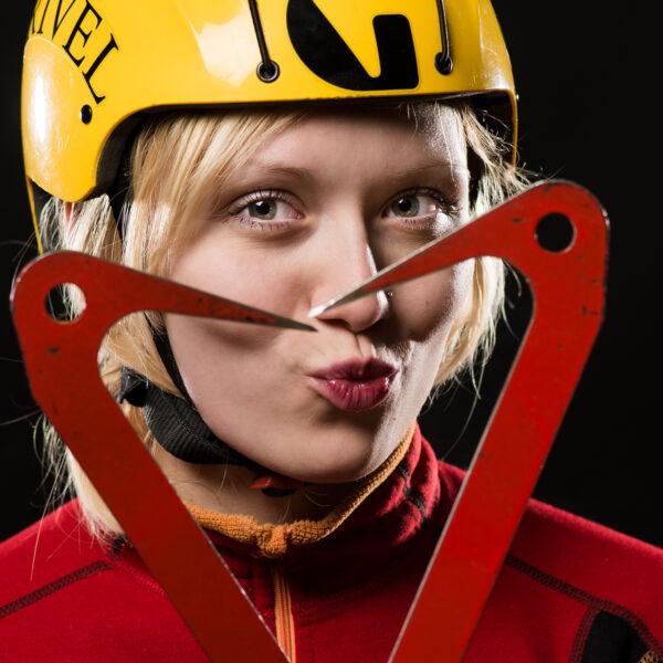 Saas-Fee, Ice Climbing Worldcup 2015, Eisklettern, Portraits Top Ten Speed Leed, UIAA, Ekaterina Koshcheeva, RUS; davidschweizer.ch
