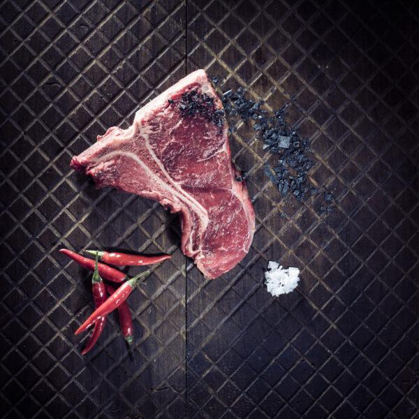 Metzgerei, Foodfotografie, Fleisch, Beef, Produktfotografie, Werbeaufnahmen, Viande, Beef, T-Bone Steak; David Schweizer
