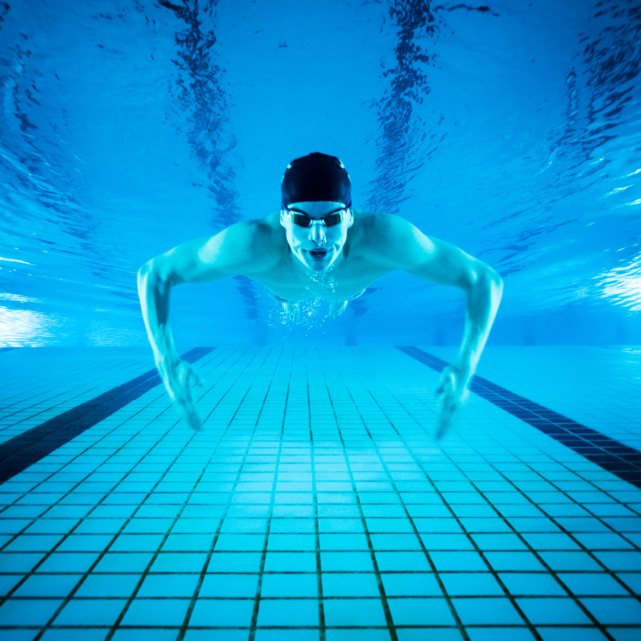 Sportfotografie, Schwimmer Schweizer Elite Nationalmannschaft, Swimmer, Swiss Swimming, Theirry Bollin, Unterwasser, Kongresshaus Biel; David Schweizer / davidschweizer
