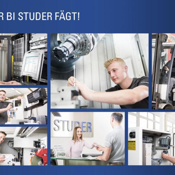 Fritz Studer AG, Steffisburg, Lehrlingsbroschüre, Peoplefotografie, Editorial, Imagebilder; David Schweizer
