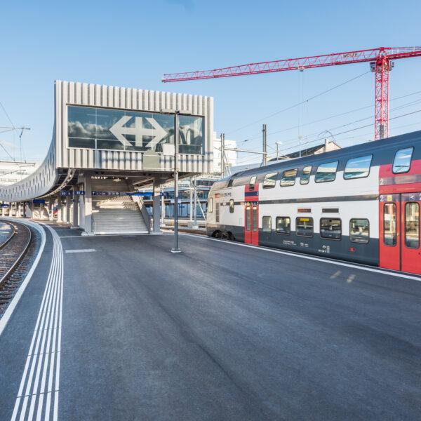 Zukunft Bahnhof Bern, ZBB, Baustellendokumentation SBB, Schweizerische Bundesbahnen, Perronverlängerung, Projekt Ausbau Publikumsanlagen Bahnhof Bern; SBB / David Schweizer