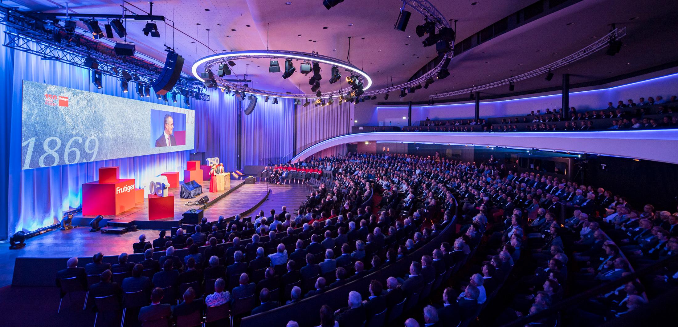 Kursaal Bern, Frutiger AG, 150 Jahre Jubiläum, Kundenevent, Eventfotografie; David Schweizer