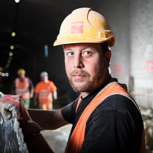 Baustellenfotografie, Frutiger AG, Arbeiter, Imagebilder; David Schweizer