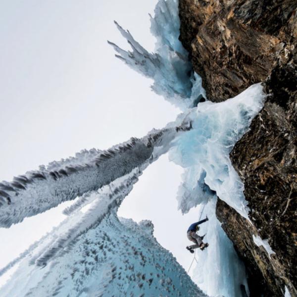 Titelbild Die Alpen, SAC, Eisklettern, Lukas Goetz, Kletterfotograf, Sportfotografie, Klettern, Outdoorfotografie
