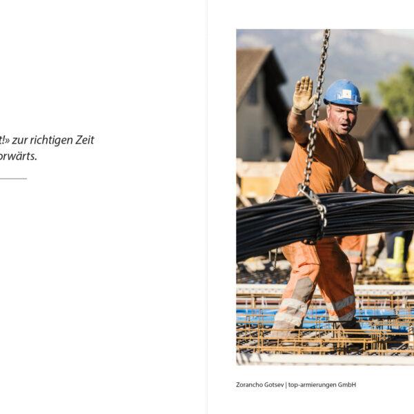 Baustellenfotografie, Editorial, Ara Thunersee, Portrait, Peoplefotografie, Uetendorf, Ausbau Abwasserreinigungsanlage, Kuno Roth; David Schweizer, Fotobuch